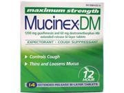 Mucinex DM Expectorant & Cough Suppressant, Cough & Chest Congestion, Maximum Strength, Extended-Release Bi-Layer Tablets, 14 ct.
