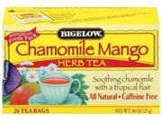 Bigelow Chamomile Mango Herbal Tea, 20-Count Boxes (Pack of 6)