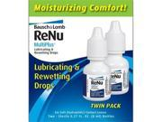 Bausch & Lomb ReNu MultiPlus Lubricating & Rewetting Drops, 2-Count, 0.27-Ounce Bottles