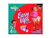 Pampers Easy Ups Diapers, Girls, Size 4, 26-Count (Pack of 4)