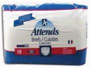 Attends Briefs Large, With Band 18 briefs/Pk, 4 Packs