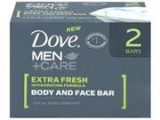 DOVE MEN SOAP 4.5OZ 2PK EX FRSH