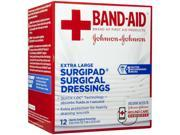 Bandaid First Aid 5x9 Surgipad Dressing 12 Ct