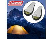 "2 Coleman Mummy Sleeping Bags - Adult Tall to 6'4"", Cold Weather 0F-20F Insulated"