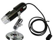 USB Digital Microscope 2 Mega Pixel Video Camera 200X For Windows XP/Vista/ Win7 - Black