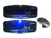 E-Blue Mazer 2500 DPI Blue LED Optical USB Wired Gaming Mouse + LED Illuminated Ergonomic Backlit USB Wired Gaming Keyboard(Multimedia Shortcut Keys, Red/Blue Dimmable Backlight)