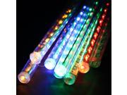 11.8 inch 8 Tube 144 LEDs Meteor Shower Rain Lights Waterproof String Light for Wedding Party Halloween Christmas Xmas Decoration Tree – Multi-color