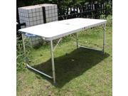 Adjustable Height Aluminum Folding Table Portable Outdoor Picnic Table Camping Table for Garden, Parties