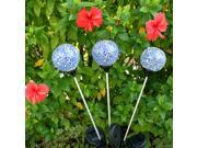 AGPtek One Set of 3 Ball Lights Solar Mosaic Crackle Glass Ball Change LED Light Multi-Color Outdoor Garden Stake Light 9SIA0U02CZ0522