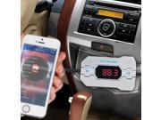 AGPtek Wireless Car FM Transmitter with Hands-Free Calling & USB Car Charger for  IPhone 6 6Plus iPhone5 5S Samsung Galaxy S5 S4