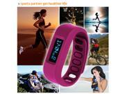 AGPtek Android IOS APP Sync Bluetooth 4.0 Smart Sports Pedometer Bracelet Soft Comfortable Silicone Wrist Band