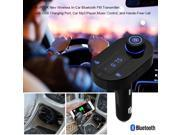 AGPtek Bluetooth FM Transmitter Car Kit with Hands-Free Calling , USB Charging & Music Controls - Works with Apple iPhone 4s 5 5s 6 6s , LG G4 , Samsung Galaxy Note 4 5 and More Smartphones
