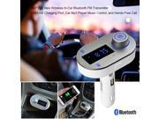 AGPtek Bluetooth FM Transmitter Car Kit with Hands-Free Calling , USB Charging & Music Controls - Works with Apple iPhone 6s , LG G4 , Samsung Galaxy Note 5 and More Smartphones