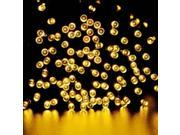 Warm White Solar Power 200 LED String Fairy Light Outdoor For Christmas Party, New Year's Eve 22m 72ft