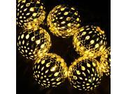 AGPTEK 10 LED Solar Retro Steel Ball Powered Outdoor String Lights Waterproof for Outside Garden Patio Party Wedding Christmas