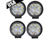 AGPTEK 4 x LED Lights Round LED Work Lights 6500K White For ATV/RV/Boat/Suv/Truck/Car/ATVs Light SPOT BEAM Off Road Waterproof Led Work Lights Car Lights