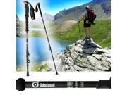 100% Carbon Fiber Quick Lock Hiking Stick Ultralight walking Stick for Travel Hiking Climbing telescoping Alpenstocks with extended EVA Foam Handle
