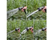 8 Pattern Adjustable Garden Hose Iron Nozzle Sprayer Water Gun Black 7.48 in x5.9 in x 2.6 in