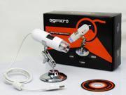 USB Digital Microscope 2 Mega Pixel Video Camera 200X for Windows XP/ Vista/ Win7 - White