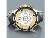 Centorum Mens Chronograph Diamond Watch 0.55ct Yellow