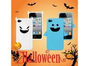 [ZIYA] iPhone-4S/ 4G Silicon Case Halloween Gift-Blue Angel Case + White Devil Case+ Screen Protector skin+ Candy Earphone