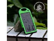 Universal Solar Power Charger w/ Hook [Green] 5000mAh
