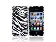 Silver Zebra Hard Plastic Case Cover For Apple Verizon AT&T iPhone 4 iPhone 4S