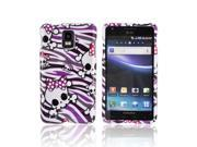 Slim & Protective Hard Case for Samsung Infuse i997 - White Skull w/ Bow