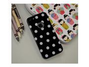 Black/ White Polka Dots Anti-slip Dot Jelly Series Crystal Rubbery Feel Silicone Skin Case Cover For Apple Iphone 5