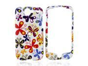 HTC Nexus One Hard Plastic Case - Colorful Butterflies On White