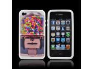 OEM DCI Apple Iphone 4/4s Rubbery Feel Silicone Skin Case Cover - Gumball Machine