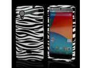 Slim & Protective Hard Case for LG Google Nexus 5 - Black / White Zebra