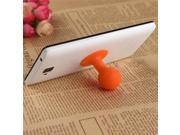 Universal Portable Cell Phone Silicone Suction Ball Stand Holder - Orange 9SIA0UW07K2319
