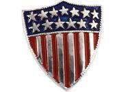 America Shield Of Honor Lapel Pin in 14k White Gold