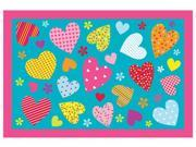 Fun Rugs - Hearts-Turquoise, Fun Time Collection