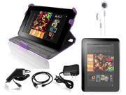"Ionic 6-item Accessory Kit for Amazon Kindle HD 7"" (Purple)"