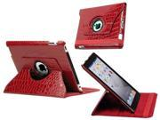 Rotating Stand Case for New Apple iPad 3 Red
