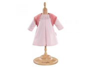 "Corolle Mon Classique Pink Dress and Woolen Vest for 17"" Doll Fashions"