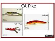 Akuna Pack of 3 Lures for fishing of Pike and Northern  in each of the 50 states