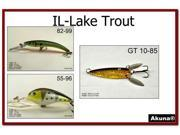 Akuna Pack of 3 Lures for Lake Trout fishing in each of the 50 states