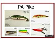 Akuna Pack of 5 Lures for fishing of Pike and Northern  in each of the 50 states