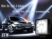 Square 27W Floodlight Bulb Lamp Waterproof IP67 1800LM LED Work Light