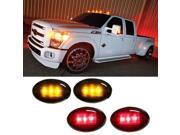 (4) Smoked Lens LED Fender Bed Side Marker Lights Set For Ford F350 F450 HD Truck (2 x Amber, 2 x Red)