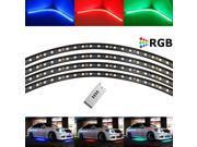 "4pc 7-Color RGB LED Under Car Lighting System w/ Wireless Remote (48"" x 2, 36"" x 2)"