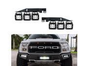 iJDMTOY Complete 120W Triple CREE LED Fog Light Kit w/ Lower Bumper Opening Mounting Brackets & Wiring On/Off Switch For 2017-up Ford Raptor 9SIA0WW6MT0227