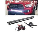 """iJDMTOY 30"""""""" 150W High Power CREE LED Light Bar with Lower Bumper Insert Mounting Brackets and On/Off Switch Wiring Kit For 2016-up 3rd Gen Toyota Tacoma"""" 9SIA0WW6MT0208"""