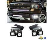 iJDMTOY 4x CREE High Power LED Fog Light Kit w/ Lower Bumper Mounting Brackets For 2010-2014 Ford Raptor ONLY 9SIA0WW6MT0202