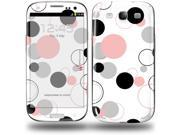 Lots of Dots Pink on White - Decal Style Skin (fits Samsung Galaxy S III S3)