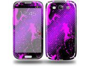 Halftone Splatter Hot Pink Purple - Decal Style Skin (fits Samsung Galaxy S III S3)