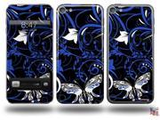 Twisted Garden Blue and White Decal Style Vinyl Skin - fits Apple iPod Touch 5G (IPOD NOT INCLUDED)